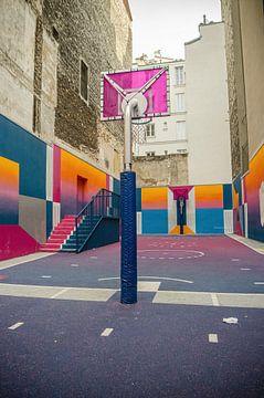 terrain de basket-ball pigalle paris sur MaxDijk Fotografie shop