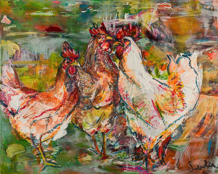 Coqs sur Liesbeth Serlie