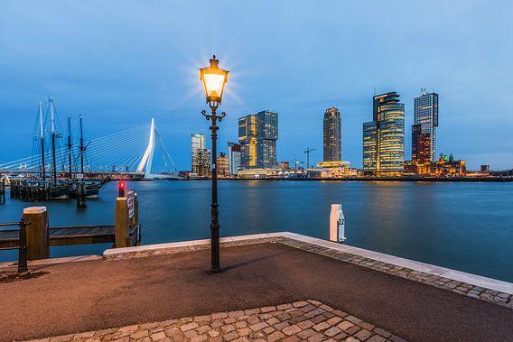 Het uitzicht vanuit de Veerhaven in Rotterdam