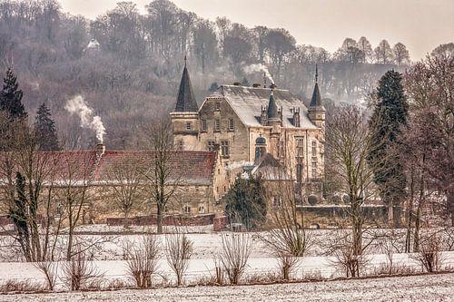 Kasteel Schaloen in Oud-Valkenburg in winterse sfeeren