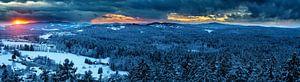 Sonnenuntergang im Bayrischen Wald von Dirk Rüter