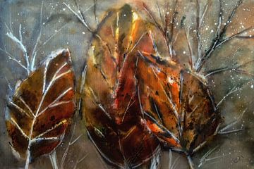 Abstrakter Herbst - Blätter von Christine Nöhmeier