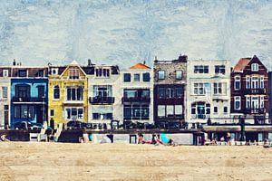 Kleurrijk stukje boulevard in Vlissingen (Zeeland, Nederland) van