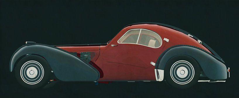 Bugatti 57-SC Atlantic 1938 zijaanzicht van Jan Keteleer