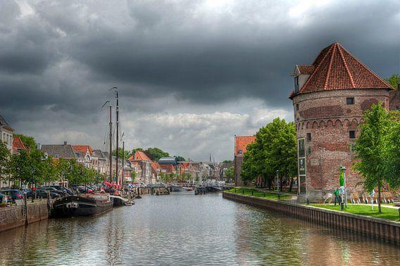 De Thorbeckegracht in Zwolle van Franke de Jong