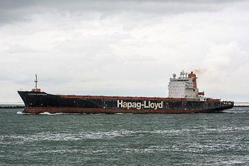 Zeeschepen onderweg in de haven Rotterdam. van scheepskijkerhavenfotografie