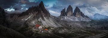 Panorama van de prachtige Drei Zinnen van Roy Poots