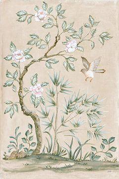 Veer muurschildering II TAN, Julia Purinton van Wild Apple