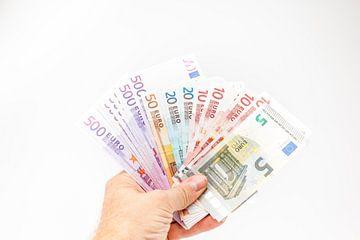 Verschillende euro's biljetten van Marcel Derweduwen