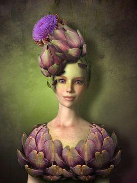 Artischocken Mädchen von Britta Glodde