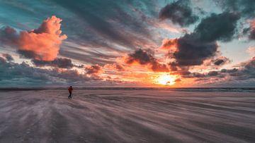 Stormachtige zonsondergang van Steffen Peters