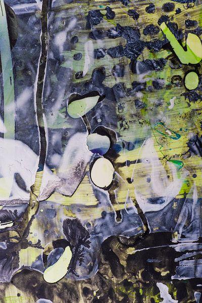 Blauw en geel structuur van Edith Lüthi