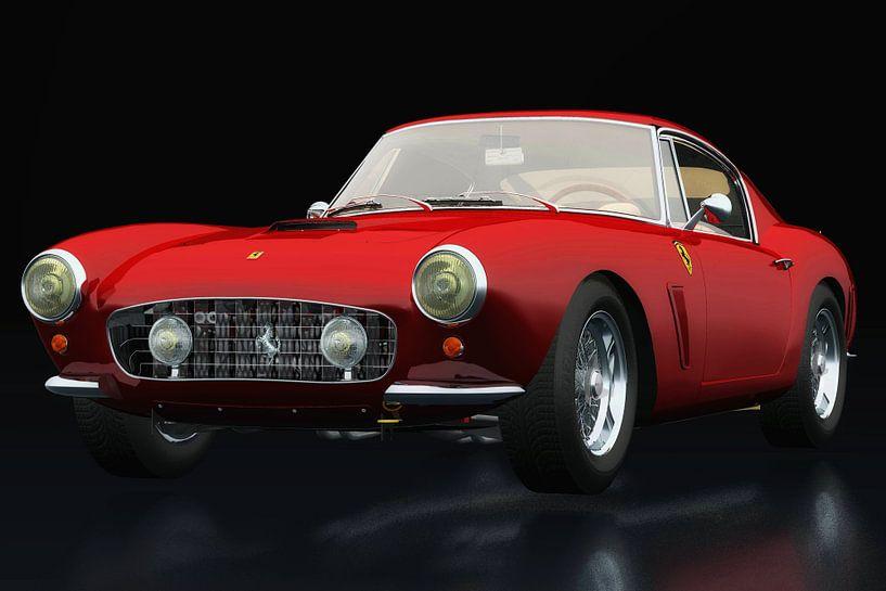 Ferrari 250 GT SWB Berlinetta drie-kwart aanzicht van Jan Keteleer