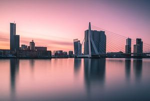 Pink morning in Rotterdam van Ilya Korzelius