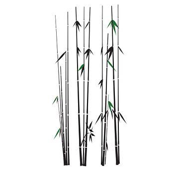 Bambuszweige grün und schwarz auf weiss von sarp demirel