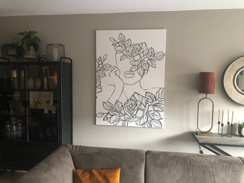 Kundenfoto: Die Kunst der Blumenmädchen-Linie von Romee Heuitink, auf leinwand