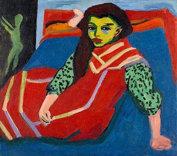 Ernst Kirchner.Sitzendes Mädchen