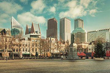 Skyline Den Haag bei Plein von André Scherpenberg