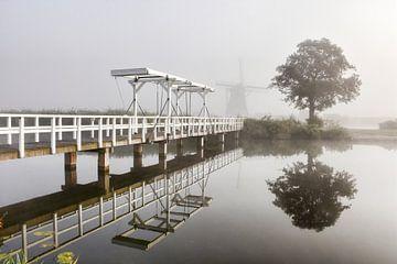 Thick Fog in Kinderdijk von Charlene van Koesveld