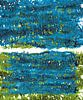 Groene en blauwe plant bladeren landschap van Eva van den Hamsvoort thumbnail