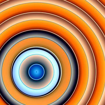 Cirkels oranje van Christine Bässler