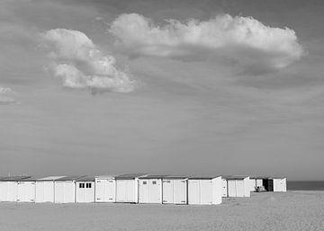 Strandhütten Knokke von Pieter van der Zweep