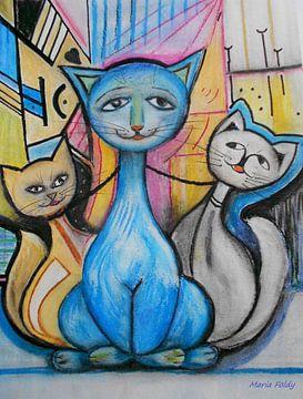 Katzenglück van Maria Földy