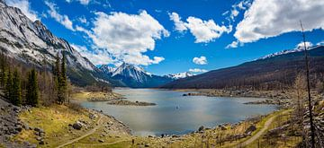 Panorama des Medicine Lake, Kanada von Rietje Bulthuis