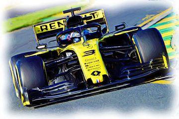 Daniel Ricciardo #3 - Season 2019 van Jean-Louis Glineur alias DeVerviers