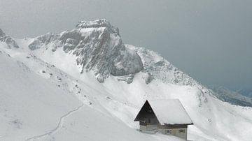 Das Alpen Haus Im Schnee von Daphne Photography