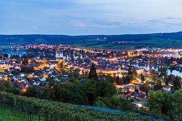 Stein am Rhein en Suisse le soir sur Werner Dieterich