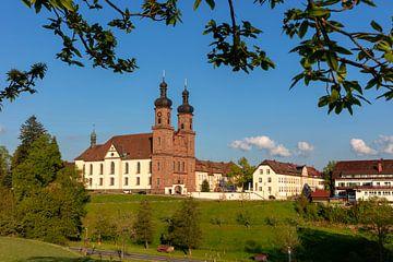 Blick zur Klosterkirche in St.Peter von Jürgen Wiesler