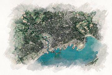 Brest vanuit de lucht van Aquarel Creative Design
