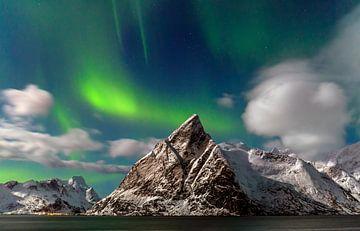 Noorderlicht op de Lofoten, Noorwegen van Adelheid Smitt