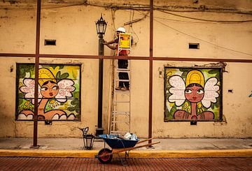 Panamaischen Straßenkunst von Roel Beurskens
