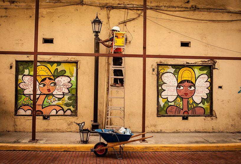 Panamese straat kunst van Roel Beurskens