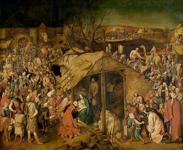 Aanbidding door de koningen, Pieter Brueghel de Jonge van