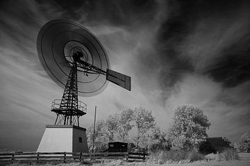 Amerikaanse molen in landschap van Johannes Schotanus