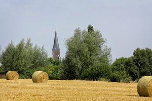 Strobalen bij Vijlen in Zuid-Limburg