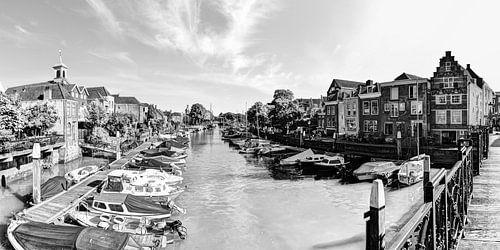 Haven van Dordrecht Nederland Zwart-Wit