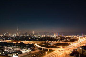 Dubai skyline van Olivier Peeters