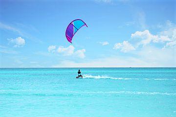 Kitesurfen auf Aruba in der Karibik von Nisangha Masselink