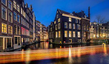 Amsterdam Light Festival stadsgezicht van