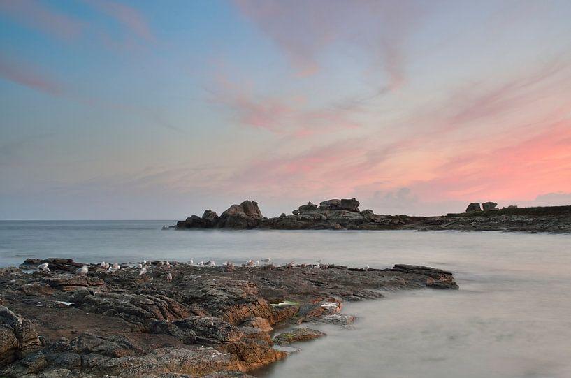 Zeezicht in Bretagne van Mark Bolijn