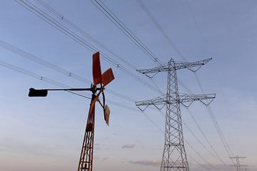 windenergie in de polder Breda Lage Vugt polder Noord-Brabant, Holland, Nederland Afbeelding molen van