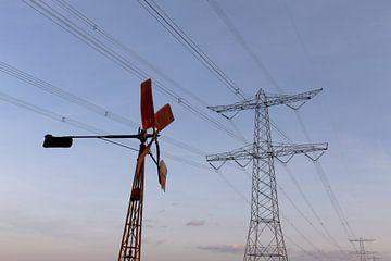 windenergie in de polder Breda Lage Vugt polder Noord-Brabant, Holland, Nederland Afbeelding molen von Ad Huijben
