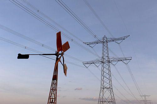 windenergie in de polder Breda Lage Vugt polder Noord-Brabant, Holland, Nederland Afbeelding molen