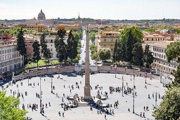 Uitzicht op de skyline van Rome en het Vaticaan van Fotografiecor .nl