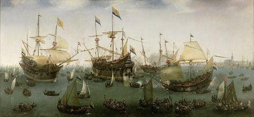 De terugkomst in Amsterdam van de tweede expeditie naar Oost-Indië, Hendrik Cornelisz. Vroom van
