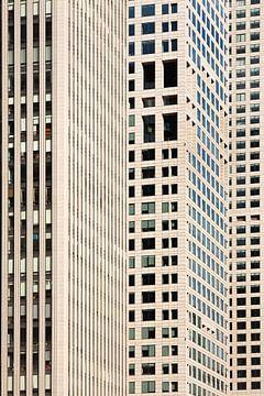 Quartier d'affaires des gratte-ciel de surface sur Tony Vingerhoets